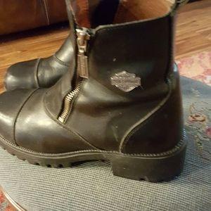 Harley Davidson riding boots.